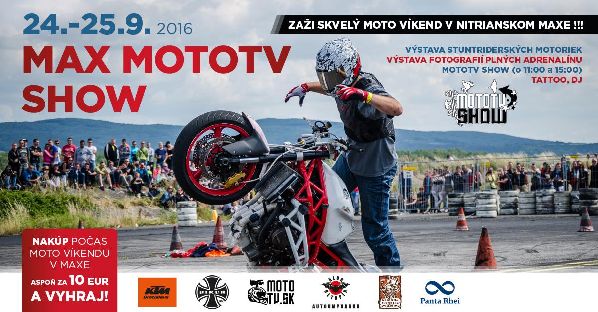 9436e9b6f MAX MOTOTV SHOW - Kam v meste | moja Nitra